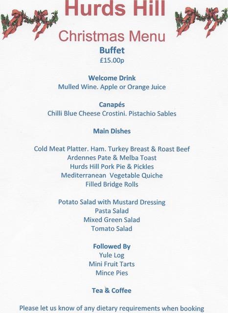 Christmas Buffet Menus.Food And Drink